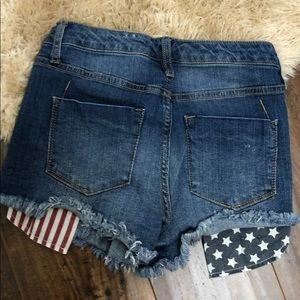Mossimo Supply Co. Shorts - American flag high rise shorts